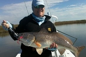 anna bishop, redfish, redfish lure