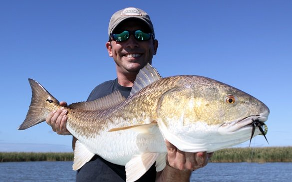 christopher gibson, redfish, curl tail jig